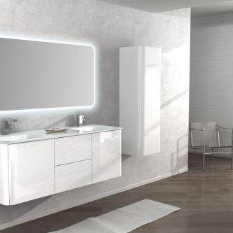 Mobiletto Liverpool 140CM colore bianco lucido