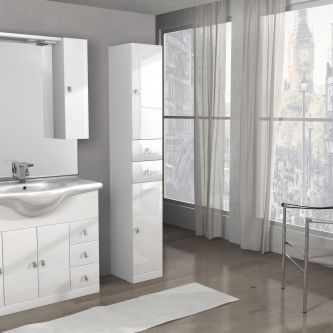 Mobiletto Clara/ISA 100 cod. A090 colore bianco lucido