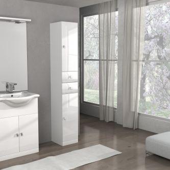 Mobiletto Clara/ISA 65 cod. A070 colore bianco lucido