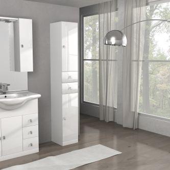 Mobiletto Clara/ISA 85 cod. A080 colore bianco lucido