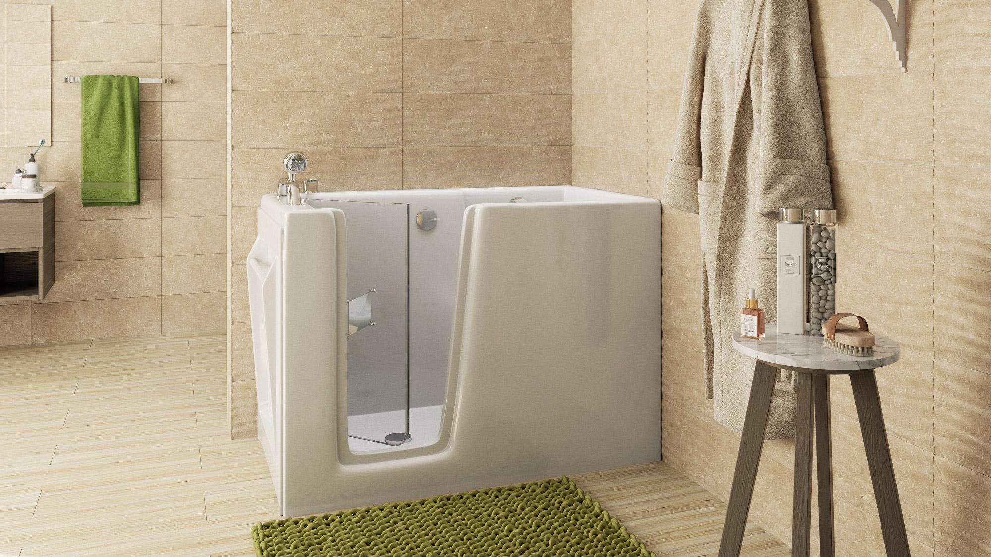 Vasca Da Bagno Con Porta : Vasca da bagno angolare con sportello e sedile per anziani