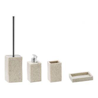 Set Quadrato lavabo sabbia