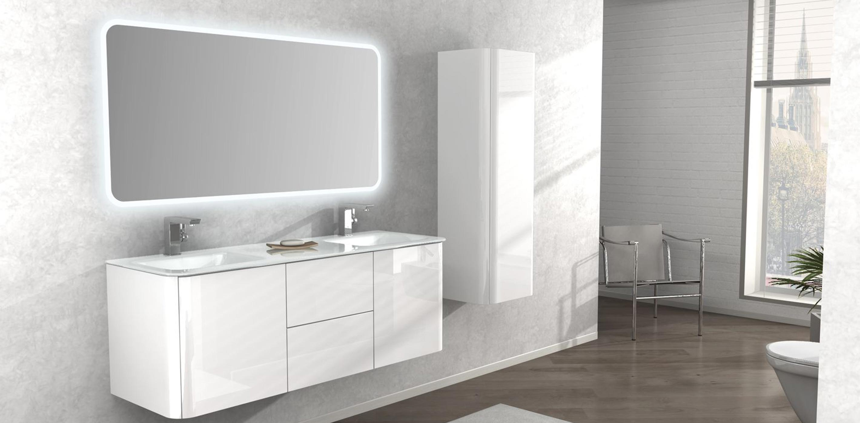 Tiarch.com  Mobile Bagno Moderno Grigio